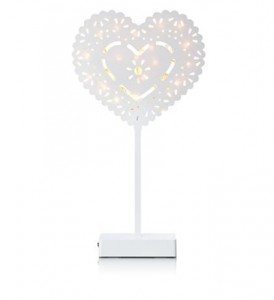 NORA Heart Table 20LED White W/connector