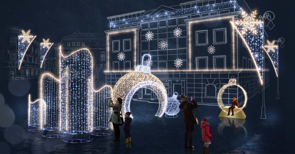 Iluminacje świąteczne świetlne Dekoracje Miast
